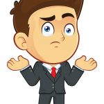 Confused Businessman With Odor Problems